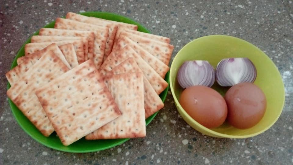 resepi cracker telur dadar sedap