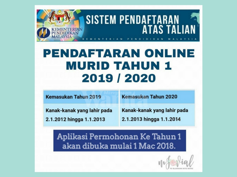 Mak Ayah Yang Ada Anak Lahir Tahun 2012 2013 Jangan Lupa Daftar Darjah 1 Secara Online Mingguan Wanita