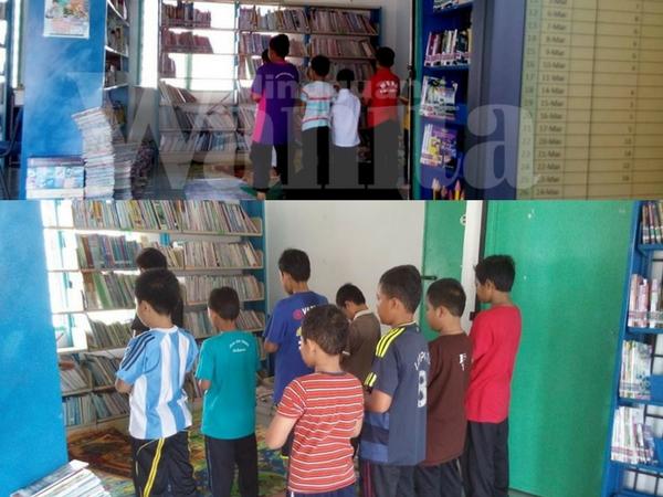 Sebaik Azan 'No Solat No Computer' Anak-anak Terus Berwuduk, Berjemaah Di Perpustakaan Desa