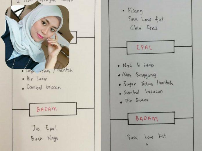 jadual diet