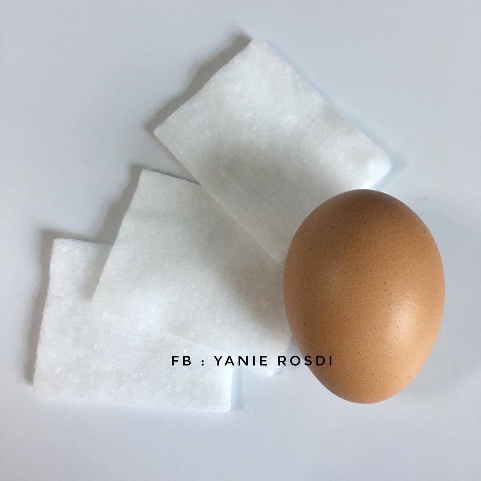 Mak 30-an Sila Guna Putih Telur Dan Kapas Buang Blackhead Dekat Hidung, Ini Caranya