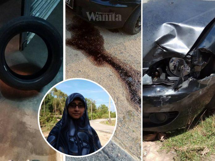 Dari Tayar Pecah, Ke Tangki Minyak Hitam Bocor, Sudahnya Ibu Mengantuk Kepenatan Ini Kemalangan Kereta, Kejadian Selebihnya Lagi Sayu