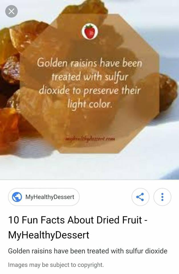 Makan Aprikot, Kiwi Kering etc WARNA GELAP, Itu Baru Bebas Sulfur Dioxide Yang Jadi Punca Sakit Tekak & Semput