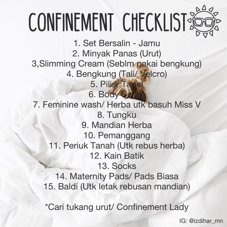 Checklist Lengkap Untuk Ibu Hamil, Dari Bawa Beg Ke Hospital Sampai Berpantang Di Rumah
