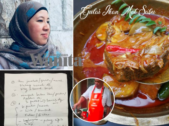 Gulai Ikan Mat Sabu, Wanita Ini Kongsi Resepi Yang YB Tulis Sendiri Atas Kertas