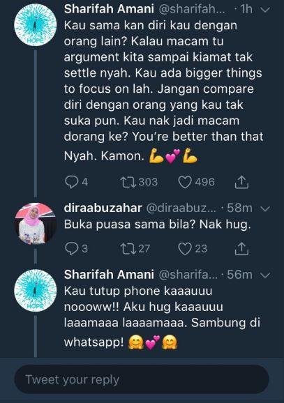 tweet sharifah amani