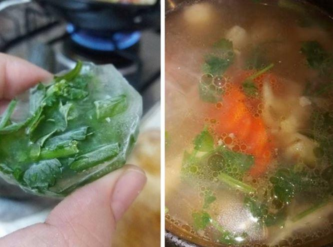 daun sup