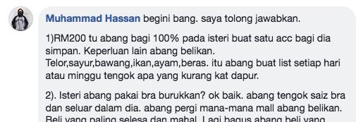Suami Merungut Bila Isteri Serabai, Padahal Tiap Bulan Beri RM200 Belanja Dapur