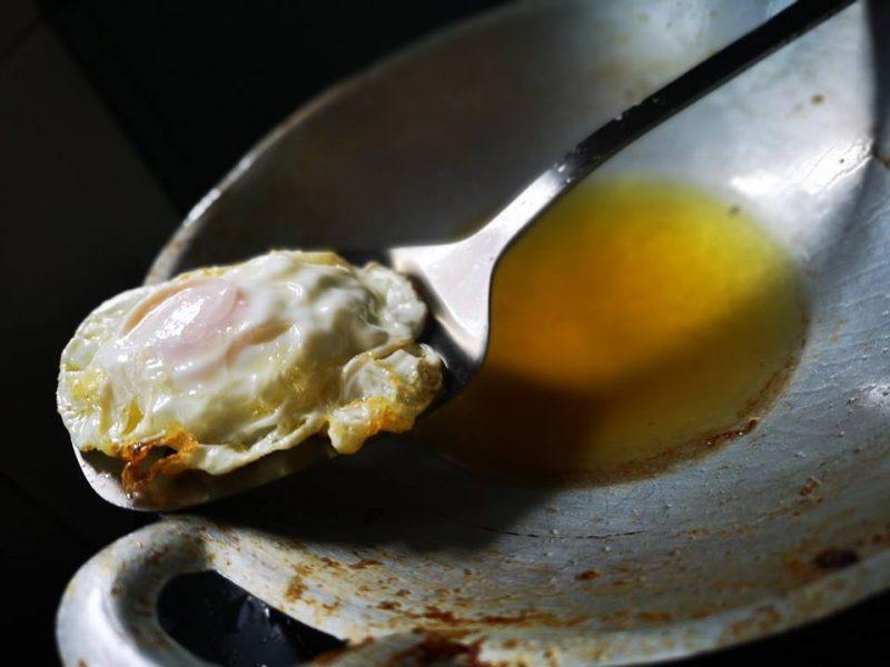 telur goreng mata kerbau