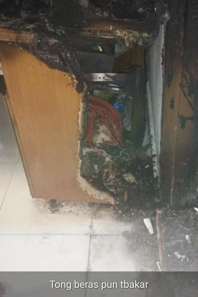 Pemetik Gas Rosak Punca Dapur Musnah Dalam Kebakaran, Keluarga Ini Rayu Bantuan
