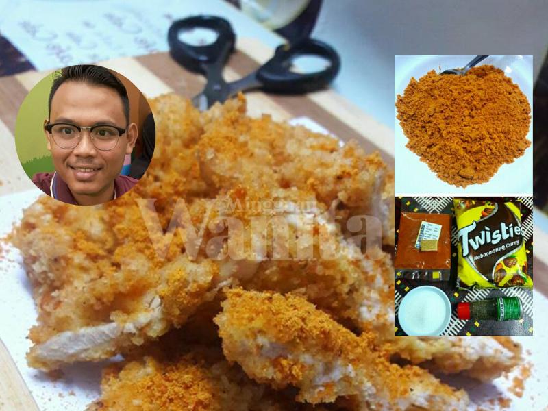 Lelaki Ini Kongsi Resipi Ayam Gunting Cara Buat Serbuk Tabur Yang Diajar Peniaga Sendiri Mingguan Wanita