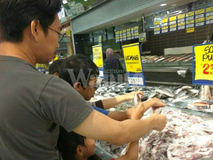 ajar anak pergi pasar