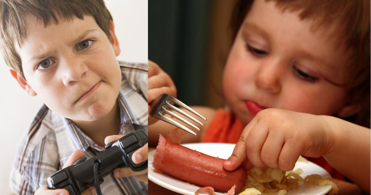 Rumah Terbuka, Isteri Sibuk Kelek Anak, Suami Pula Sedap-sedap Makan!