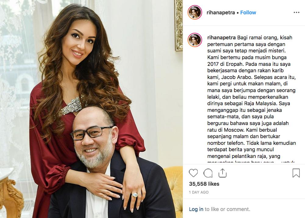 'Musim Bunga 2017 Di Eropah..' Oksana Dedah Pertama Kali Jumpa Sultan Muhammad V