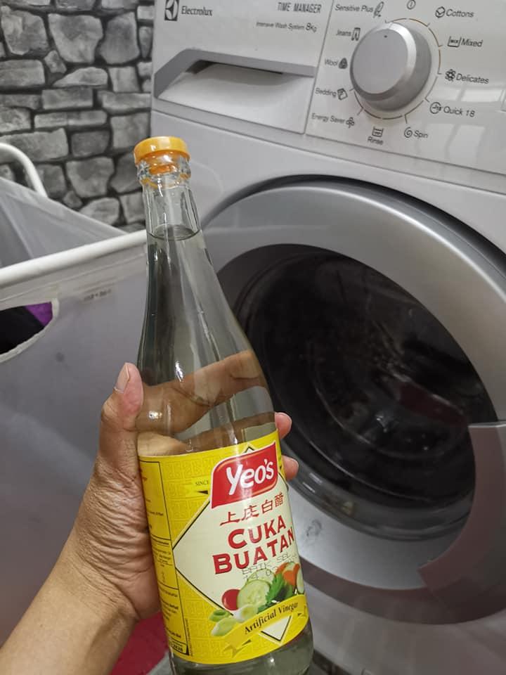 Cuci Guna Cuka, Soda Bikarbonat, Mesin Basuh Front Loader Bersih Bebas Daki