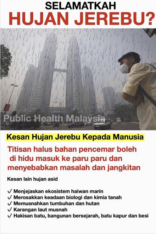 Duduk Diam Dalam Rumah, Jangan Sampai Ditimpa Hujan Jerebu