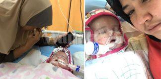 Baby Nishka Kritikal, Kata Mak Ayahnya Kanser Di Kepala Makin Membesar