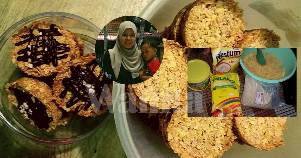 Biskut Cornflakes Nestum Rangup Paling Simple Tak Guna