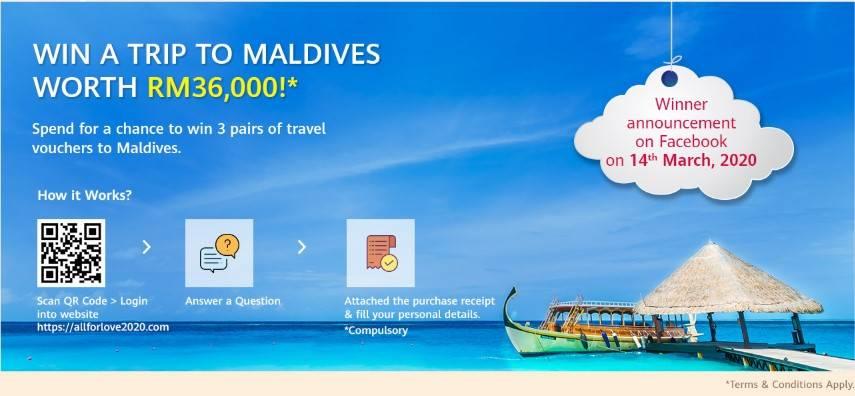 Hargai Isteri Penat Ke Maldives, Huawei Bantu Suami Realisasikan Momen Indah