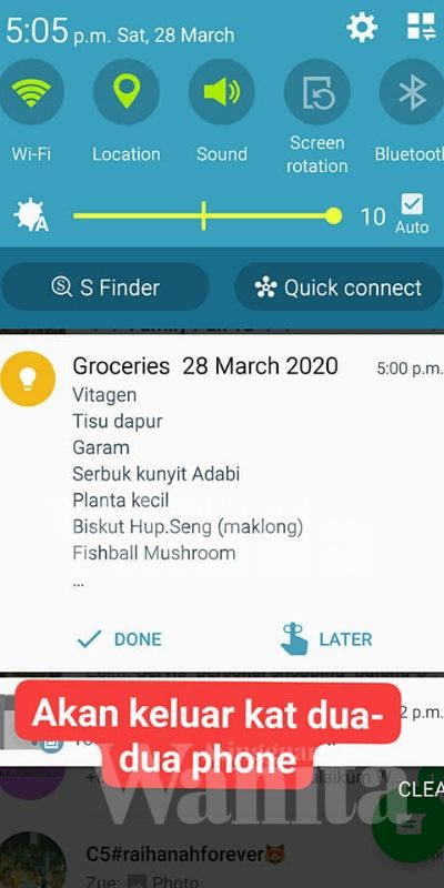 Google Notes Mudahkan Shopping Suami Masa PKP, Terasa Isteri Teman Sebelah