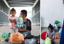 Ustaz Ebit Bantu Keluarga Anak Kecil Tidur Beralas Kotak Atas Jambatan