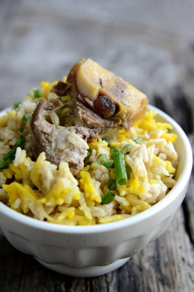 Nasi Beriani Tulang Kambing Dan Lontong Daun Pisang Sajian Istimewa Pagi Syawal