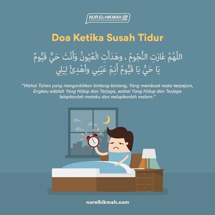 Ini Doa Sembuhkan Penyakit Susah Tidur Yang Diajar Rasulullah SAW