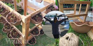 DIY Pasu Gantung Bajet, Tanam Sayur Boleh…Tanam Bunga Pun Cantik!
