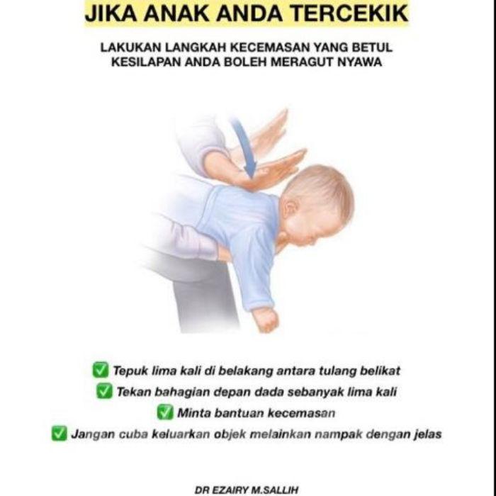Anak Tercekik Secara Tiba-Tiba, Lakukan Langkah Ini,Jangan Pula Panik!