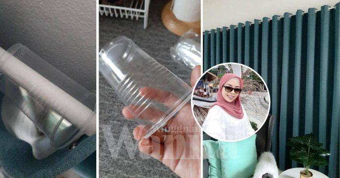 Cuma Guna Cawan Plastik, Langsir Eyelet Jadi Elok Tersusun Tak Gelembung