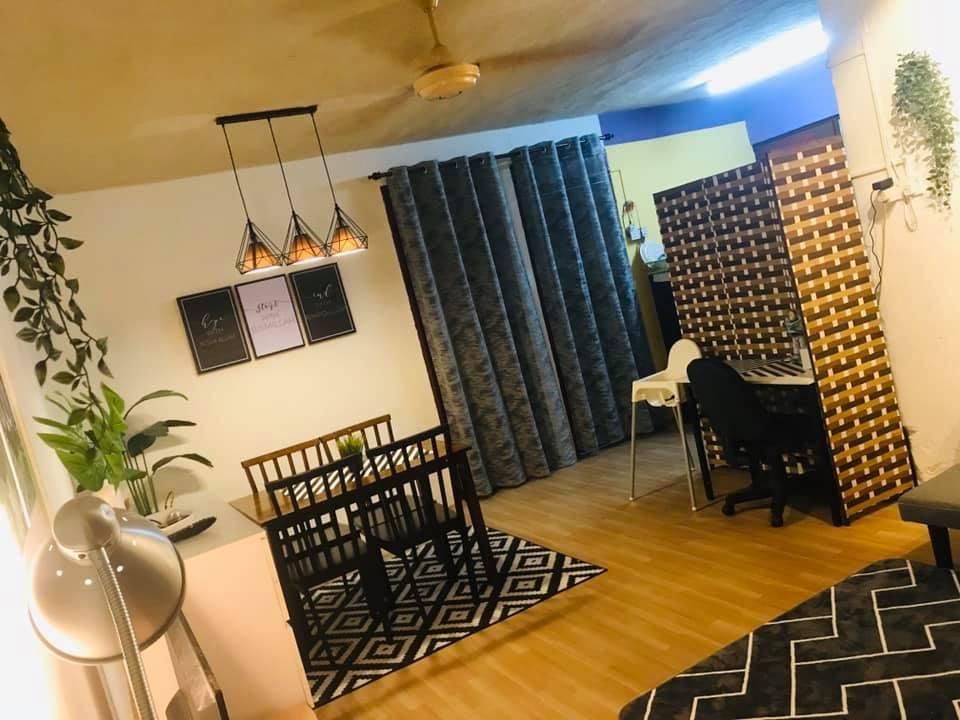 Cuma RM1300 Makeover Rumah Flat Sewa, Cantiknya Konsep 'Simple Modern'