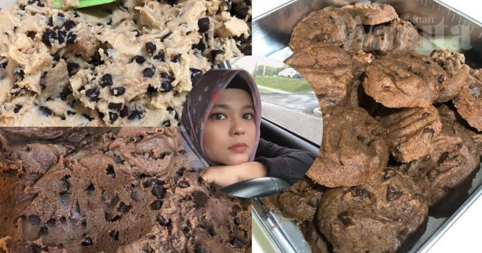 Biskut Coklat Cip Ala Famous Amos...MUDAH Nak Buat Dan SEDAP!