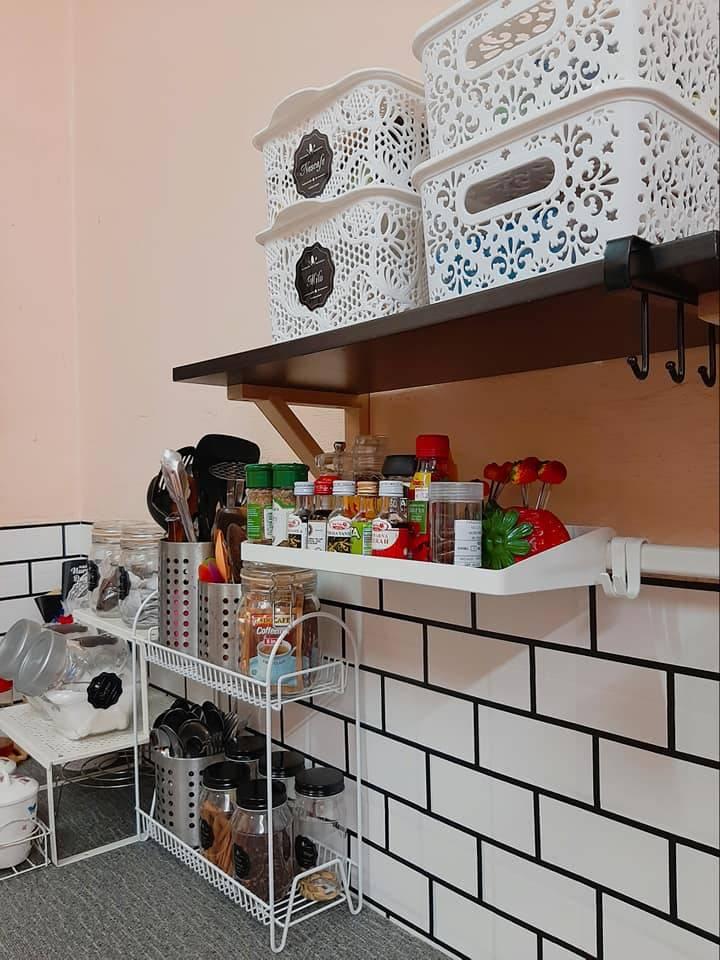 Guna Rak Kasut Susun Declutter Barang Dapur Bawah Sinki Kemas Hasilnya