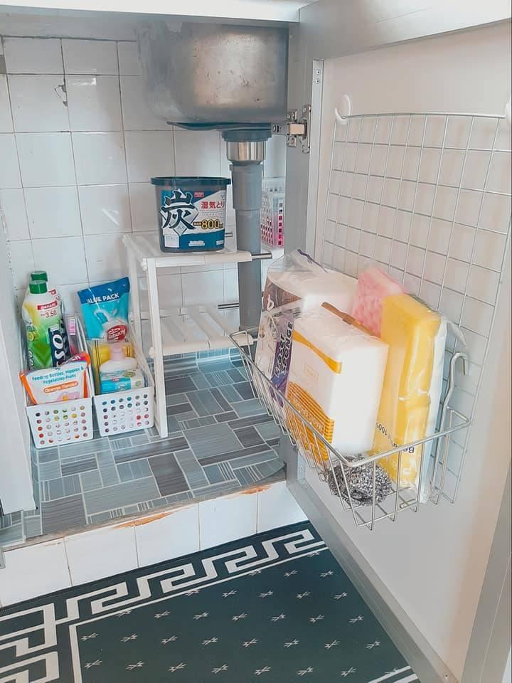 Guna Rak Kasut Susun Declutter Barang Dapur Bawah Sinki Kemas Hasilnya Mingguan Wanita