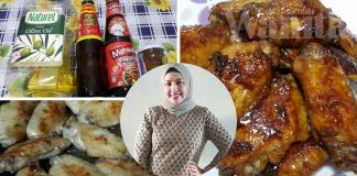 Kepak Ayam Bakar Madu…Guna Kuali Dengan Lima Bahan Saja!