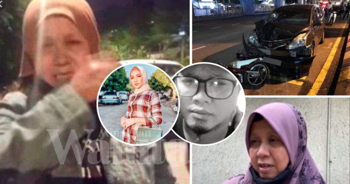 Motosikal Diseret 2km, Mangsa Pemandu Mabuk Bapa Saudara Aishah Azman