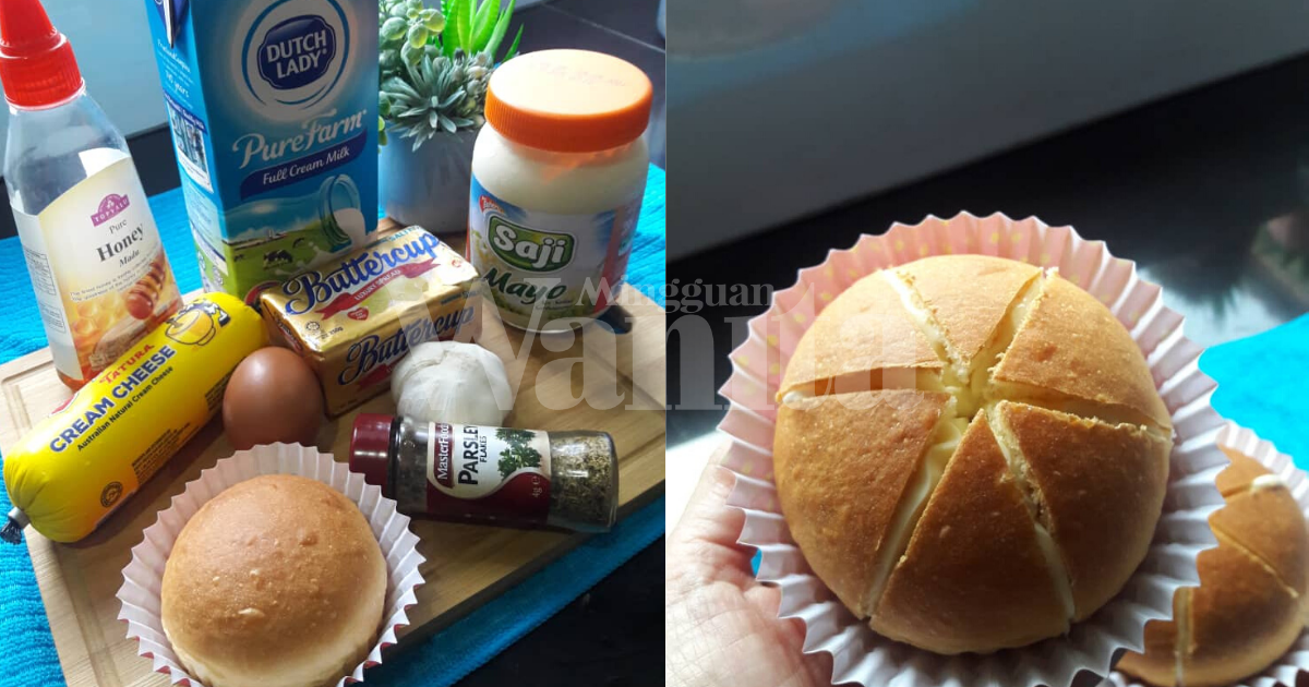 Viral Korean Cream Cheese Garlic Bun, Buat Sendiri Guna Air Fryer