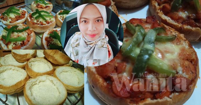 Mini Piza Burger Guna Roti Burger Je, Sangat mudah Guna Enam Bahan!
