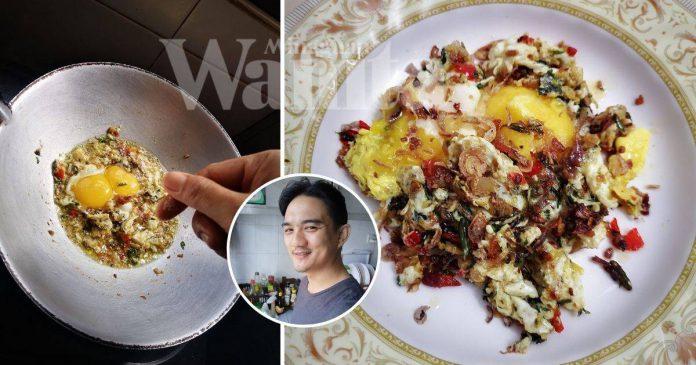 Telur Goreng Belacan, Resepi Mengundang Boleh Buat Nasi Bertambah