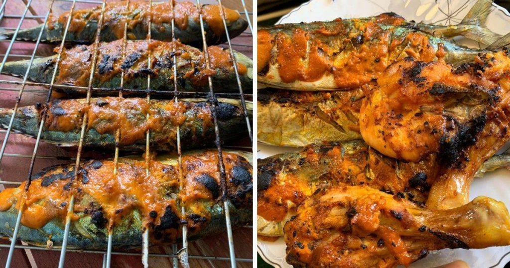 Ikan Kembung Bubuh Kuah Percik, Panggang Guna Dapur Biasa Je!