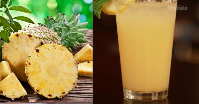 Amalkan Minum Jus Lemon Dan Nanas, Khasiatnya Buat Ramai Tercengang