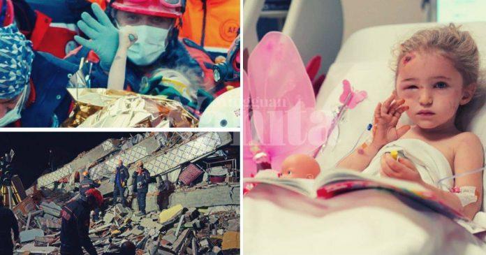 Tertimbus 65 Jam Dalam Runtuhan Bangunan, Anak Tiga Tahun Diselamatkan Bernyawa