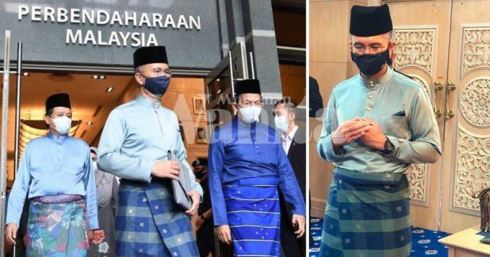 Segak Berbaju Melayu Bersamping, Tengku Zafrul Pecah Tradisi Bawa Beg Kelabu