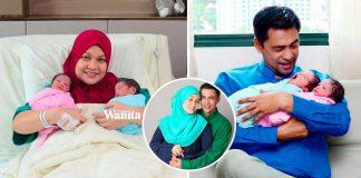 Lahir Selang Seminit, Teruja Dr Sheikh Muszaphar Timang Kembar Sepasang