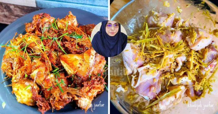 Ayam Goreng Serai Thai, Rangup & Garing, Tak Jemu Makan!
