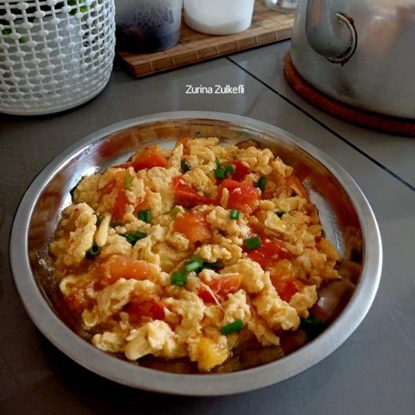 Telur Hancur Masak Tomato, Resipi Tanpa Guna Bawang, Simple & Sedap!
