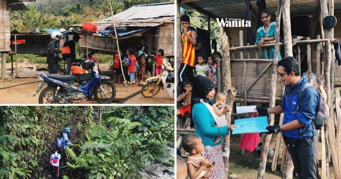 Tak Dapat Ke Sekolah, Guru Masuk Kampung, Redah Hutan Hantar Lembaran Kerja Anak-anak