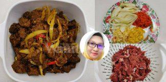 Daging Goreng Kunyit, Hanya Perlu 4 Bahan, Senang Masak Guna Pressure Cooker