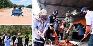 'Masak Berkawah, Memandu Sendiri..' Agong Prihatin Santuni Mangsa Banjir Di Pahang