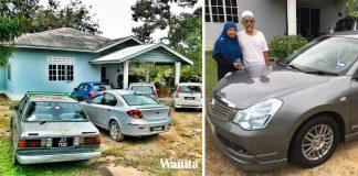 Balas Jasa Abah Kerja Tukang Rumah, Lima Beradik Berpakat Hadiahkan Kereta Baru